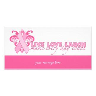 Cintas rosadas cada día plantilla para tarjeta de foto