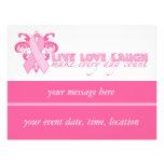 Cintas rosadas cada día tarjetas publicitarias