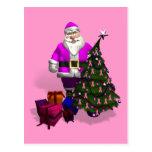 Cintas rosadas de Papá Noel