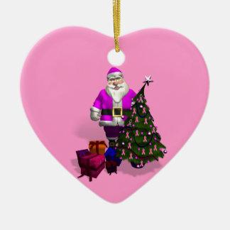 Cintas rosadas de Papá Noel Ornamentos Para Reyes Magos