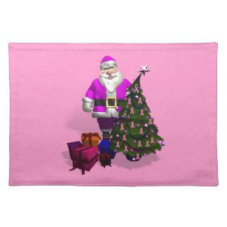 Cintas rosadas de Papá Noel Manteles