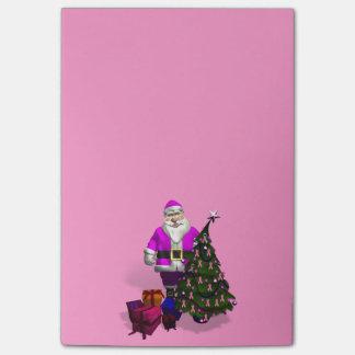 Cintas rosadas de Papá Noel Nota Post-it