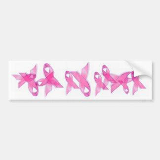Cintas rosadas del cáncer de pecho pegatina para auto