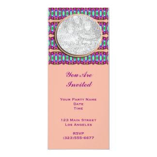 "cintas rosadas invitación 4"" x 9.25"""