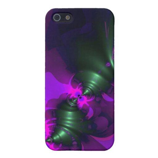 Cintas violetas y magentas del Imp púrpura - iPhone 5 Carcasas