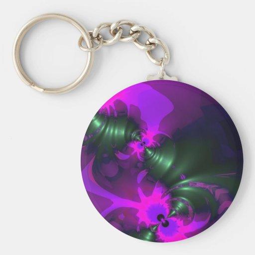 Cintas violetas y magentas del Imp púrpura - Llaveros