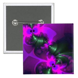 Cintas violetas y magentas del Imp púrpura - Pin Cuadrado
