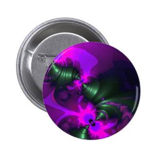 Cintas violetas y magentas del Imp púrpura - Pin Redondo De 2 Pulgadas