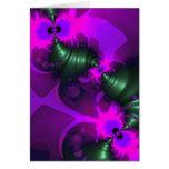 Cintas violetas y magentas del Imp púrpura - Tarjeta