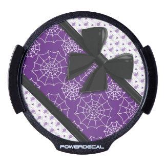 Cintas y arañas elegantes Halloween Pegatina LED Para Ventana