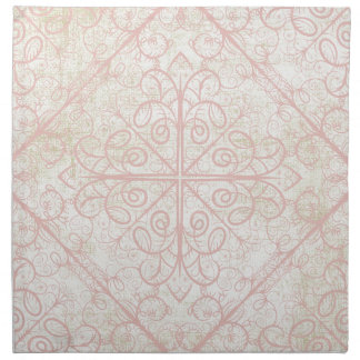 Cintas y cordón de los rosas servilleta imprimida