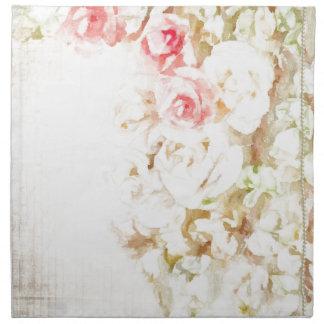 Cintas y cordón de los rosas servilleta