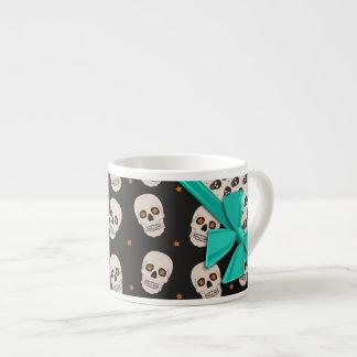Cintas y cráneos elegantes Halloween Tazas Espresso