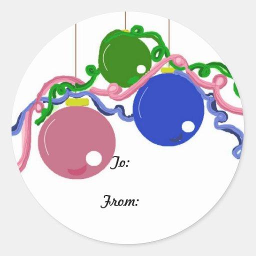 Cintas y decoraciones festivas pegatina redonda