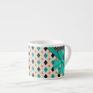 Cintas y diamantes elegantes tazas espresso