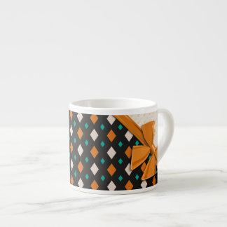 Cintas y diamantes elegantes taza espresso