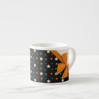 Cintas y estrellas elegantes tazita espresso
