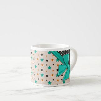 Cintas y estrellas elegantes taza espresso