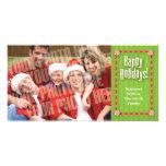 Cintas y foto del caramelo sola tarjetas fotográficas personalizadas