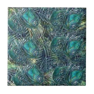 Cintas y pavos reales azulejo cuadrado pequeño