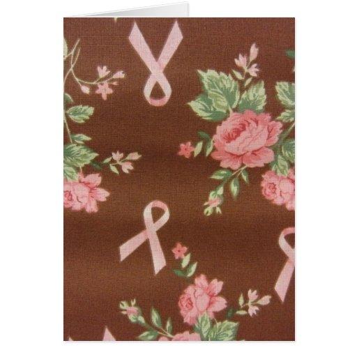 Cintas y rosas rosados tarjeta de felicitación