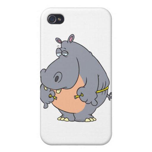cintura de medición del hipopótamo divertido de la iPhone 4 carcasas