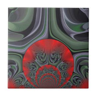 Cinturón de Fuego retro de la flora del regalo de  Azulejo Cuadrado Pequeño