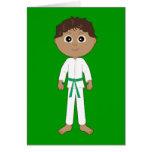 Cinturón verde de la enhorabuena del karate tarjeta