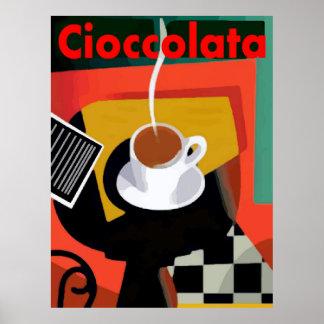 Cioccolata, Italian Hot Chocolate Poster