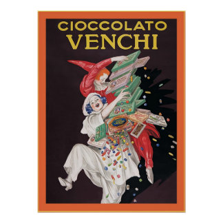 Cioccolato Venchi ~ Vintage Advertisement Poster