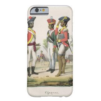 """Cipayos, de """"L'Inde Francaise"""" por M.E. Burnouf, e Funda Barely There iPhone 6"""