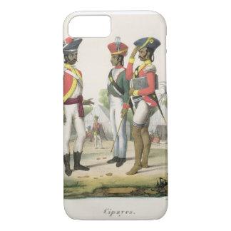 """Cipayos, de """"L'Inde Francaise"""" por M.E. Burnouf, e Funda iPhone 7"""