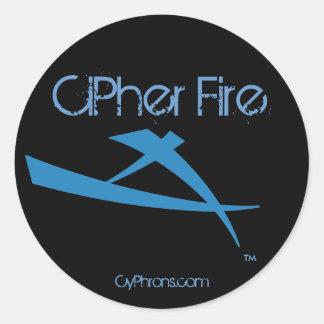 CiPher Fire Round Sticker