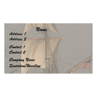 Cipper Sails/American Flag Business Card
