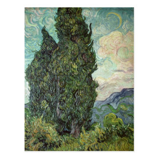 Cipreses, 1889 tarjeta postal