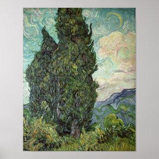 Cipreses de Vincent van Gogh el |, 1889 Póster