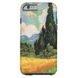 Cipreses del campo de trigo de Van Gogh w en Haute Funda De iPhone 6 Tough