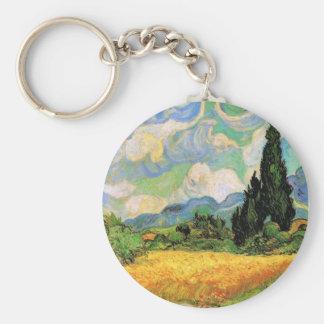 Cipreses del campo de trigo de Van Gogh w en Haute Llavero Redondo Tipo Pin