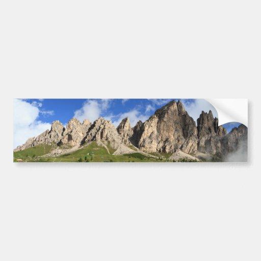 Cir Dolomites - Gardena pass Bumper Sticker