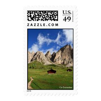 Cir Dolomites - Gardena pass Stamps
