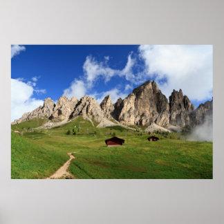 Cir Dolomites - Gardena pass Print