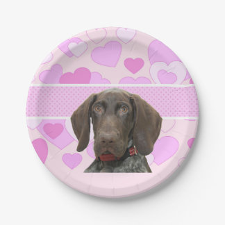 cir   grizzly girlspink3.jpg 7 inch paper plate