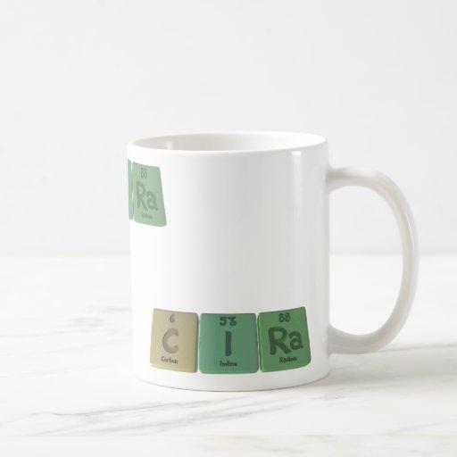 Cira como radio del yodo del carbono taza de café