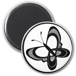 circ, butterfly 11 2 inch round magnet