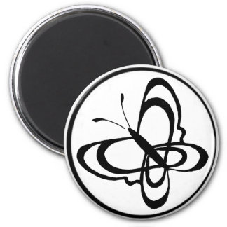 circ, butterfly 1 2 inch round magnet