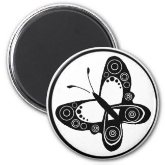 circ, butterfly 9 2 inch round magnet