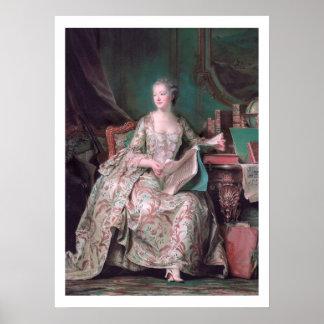 Circa 1748 el poster de Pompadour Art del marqués