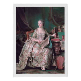 Circa 1748 The Marquise de Pompadour Art Poster