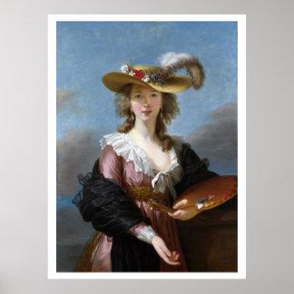 Circa 1782 Self Portrait Straw Hat Art Poster