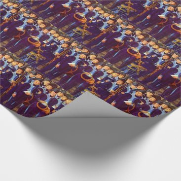 circa 1800 European military musicians Wrapping Paper